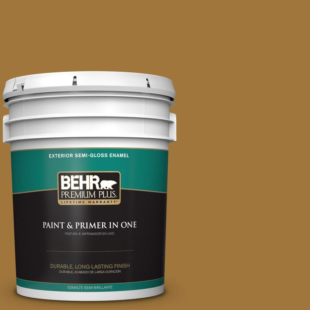 5-gal. #310F-6 Goldenrod Tea Semi-Gloss Enamel Exterior Paint