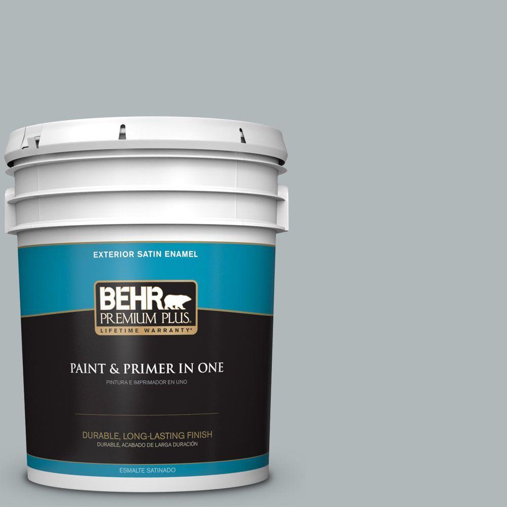 BEHR Premium Plus 5-gal. #N450-3 Meteor Shower Satin Enamel Exterior Paint
