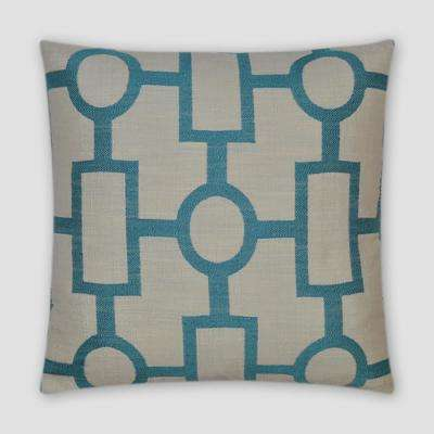 Ellington Turquoise Feather Down 18 in. x 18 in. Standard Decorative Throw Pillow