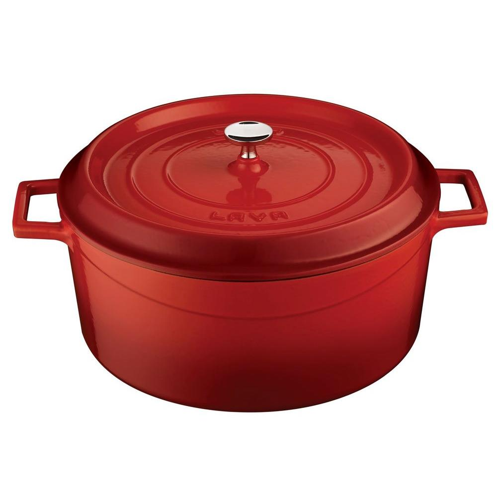 Lava Signature 10 5 Qt Cast Iron Round Dutch Oven