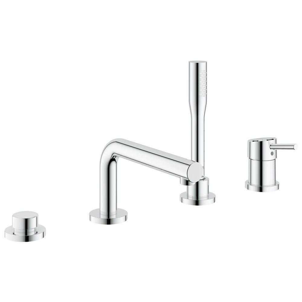 Concetto Single Handle Deck-Mount Roman Tub Filler with Personal Hand Shower