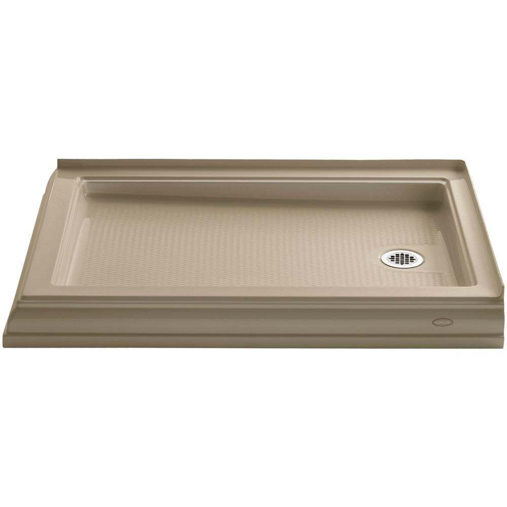 KOHLER Memoirs 48 in. x 34 in. Double Threshold Shower Base in Mexican Sand