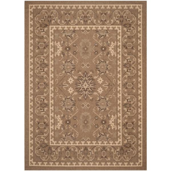 Safavieh Courtyard Brown Cream 5 Ft X
