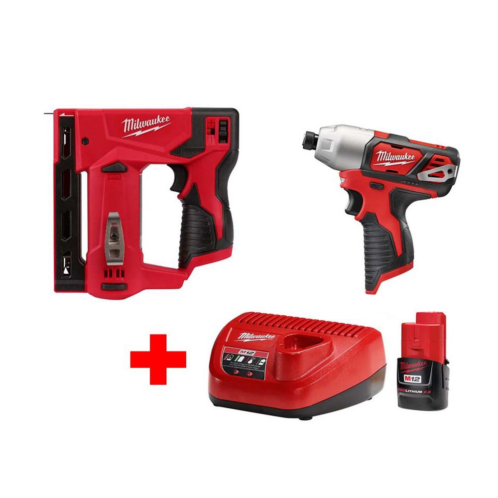 M12 12-Volt Lithium-Ion Cordless 1/4 in. Hex Impact and 3/8 in.