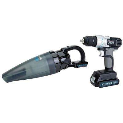 20-Volt Max Lithium-Ion Cordless Drill and Vacuum Combo Kit (2-Tool)
