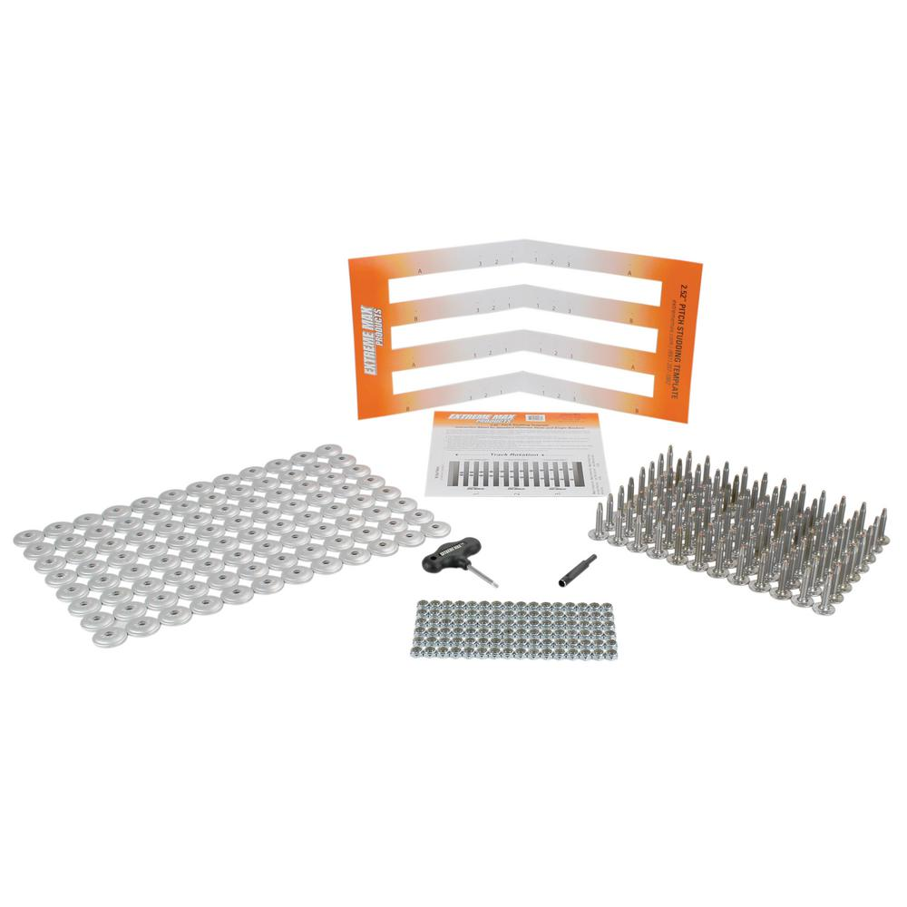 Extreme Max 96-Stud Track Pack with Round Backers - 1.25 in. Stud Length