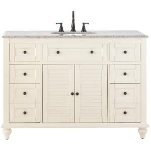 Home Decorators Collection Hamilton Shutter 49-1/2 inch W x 22 inch D Bath Bath Vanity in... by Home Decorators Collection