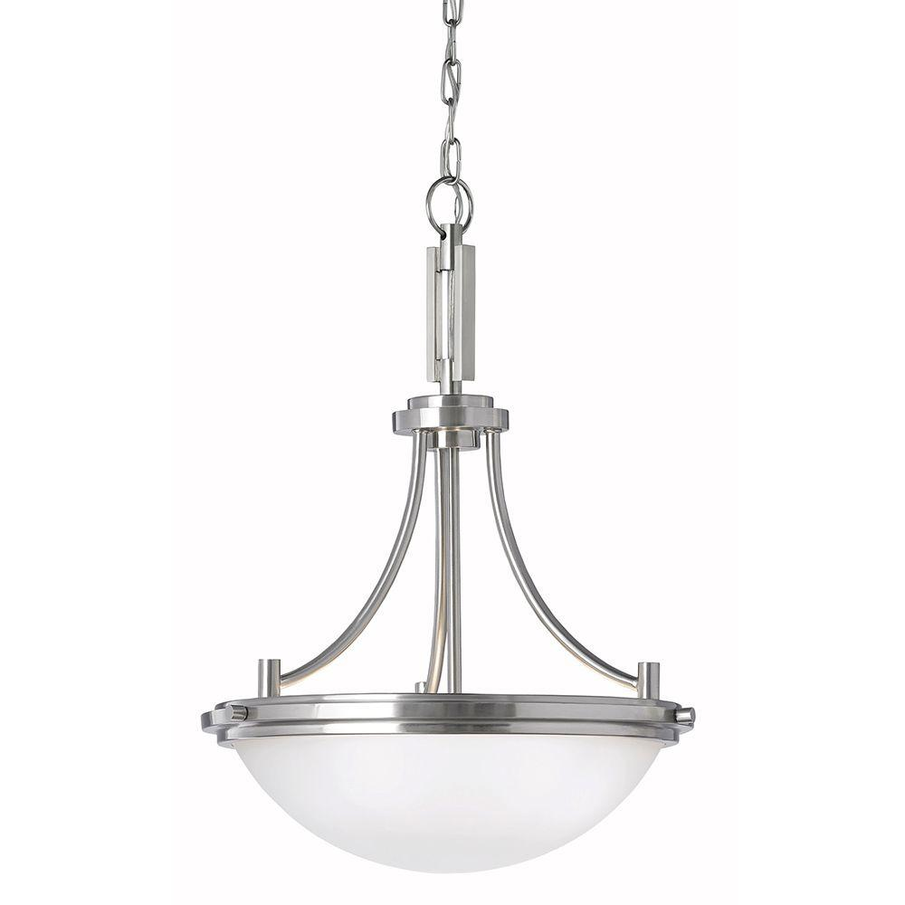 Sea Gull Lighting Winnetka 3-Light Brushed Nickel Uplight Pendant