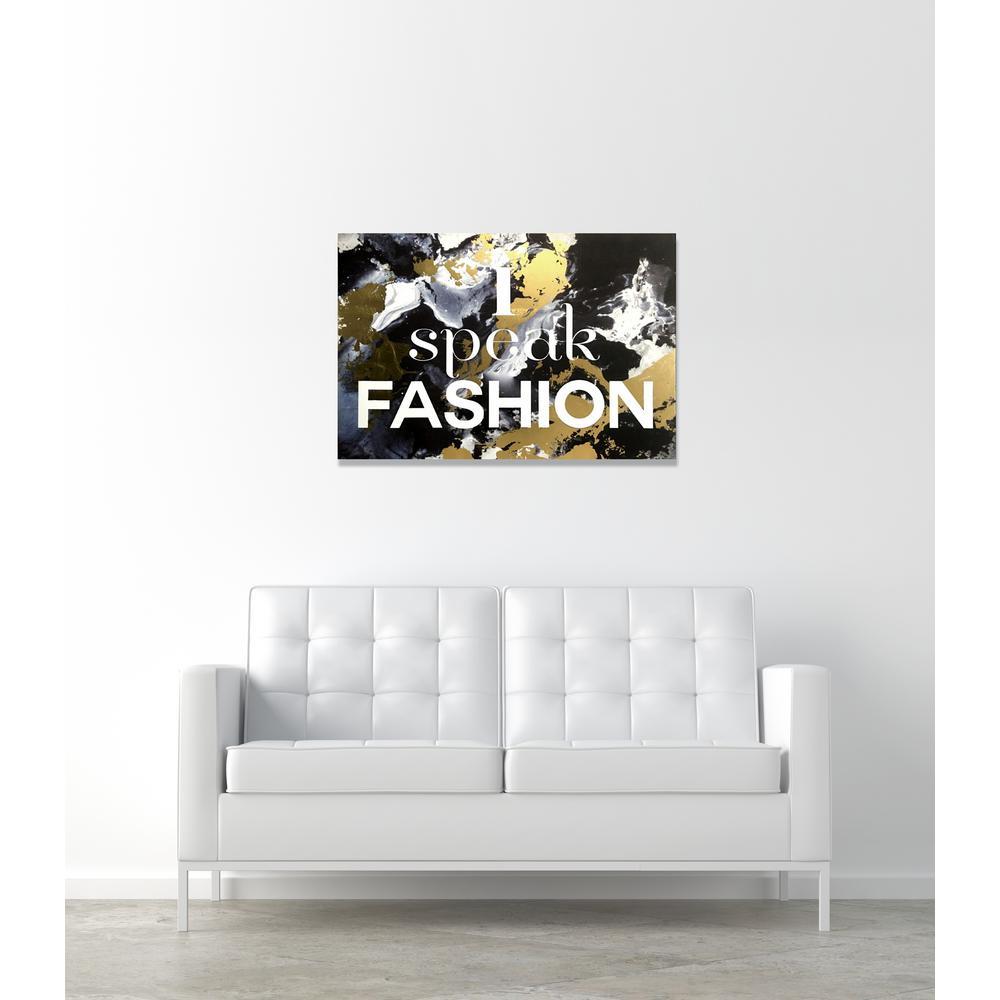 """Fashion Wall Art Gorgeous 45 Inx 30 In""""i Speak Fashion""""wynwood Studio Canvas Wall Inspiration Design"""
