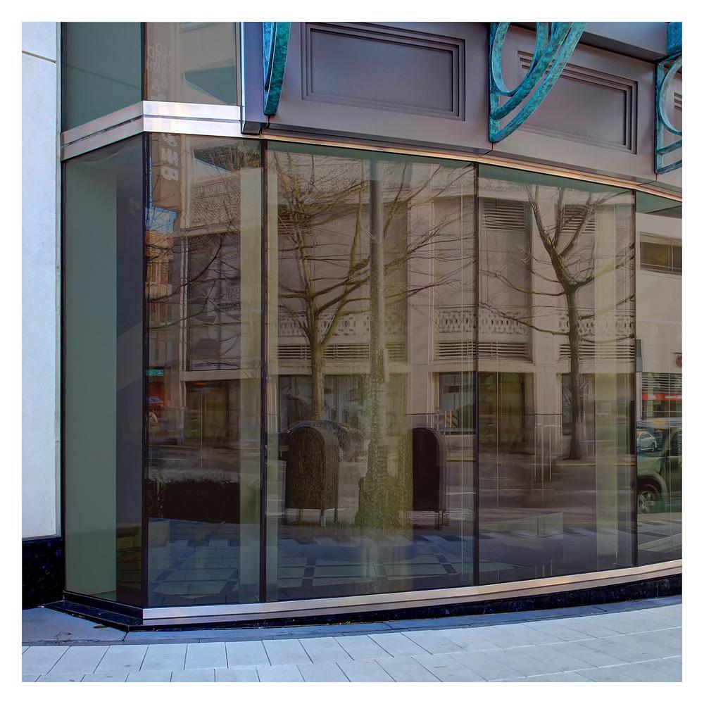 60 in. x 50 ft. BRZ20 Bronze Reflective Sun Control and Daytime Privacy (Dark) Window Film