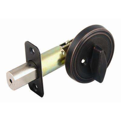Brushed Bronze 2-3/8 in. Backset Single Sided Deadbolt with Turn-Button Interior