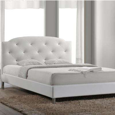 canterbury white queen upholstered bed - White Queen Bed Frames