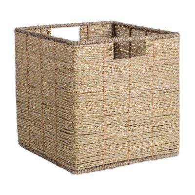 Square Woven Seagrass Decorative Bin