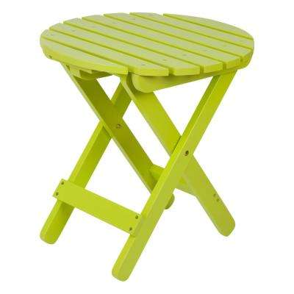 Adirondack Lime Green Round Wood Folding Table