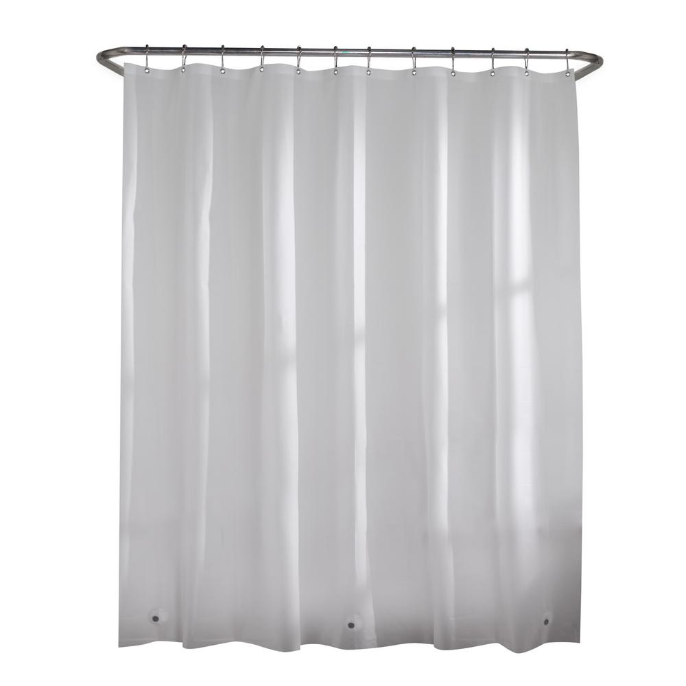 Glacier Bay Peva Oversized Heavy 7 Gauge 84 In W X 72 In H Shower Curtain Liner In Frosted Clear 71124 The Home Depot