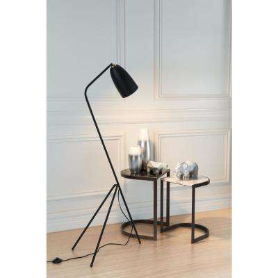 Jamison 59.8 in. Matt Black Floor Lamp
