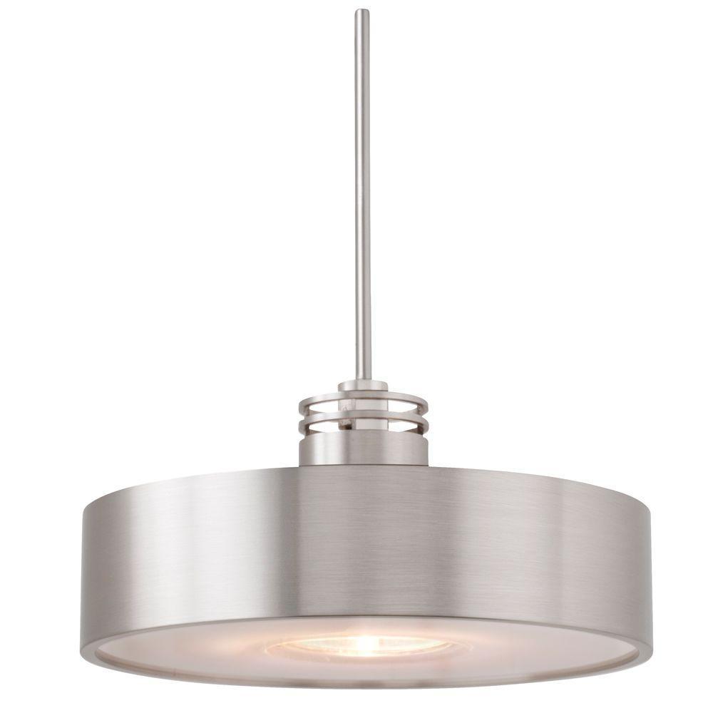 Hover 1 Light Satin Nickel Hanging Mini Pendant