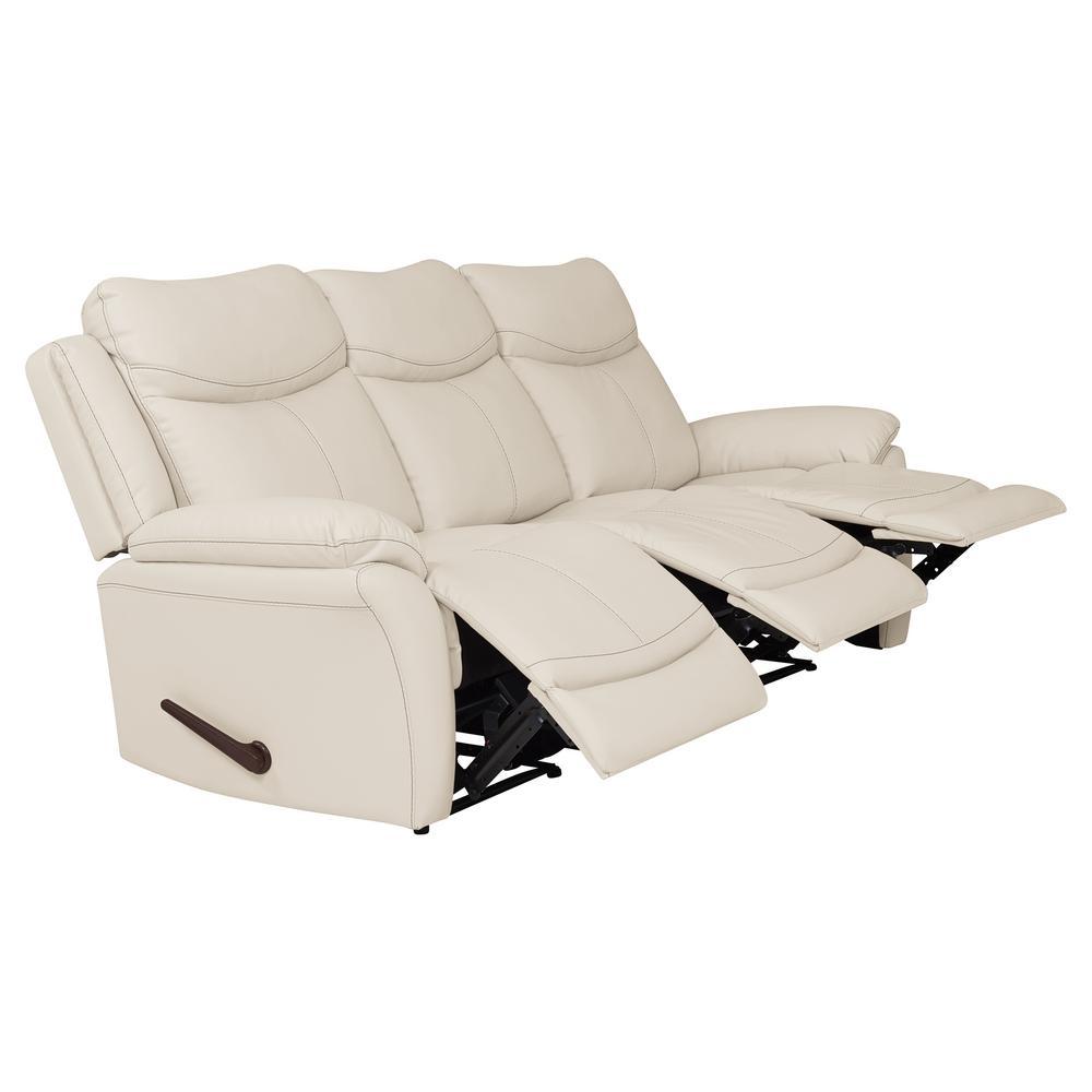 ProLounger Off-White Almond Tuff Stuff Fabric 3-Seat Wall ...
