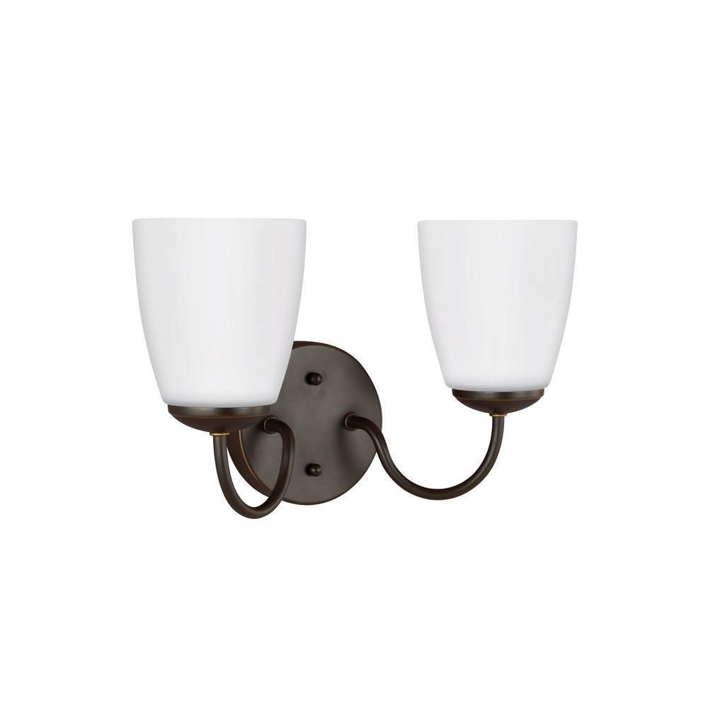 Bannock 2-Light Heirloom Bronze Bath Light