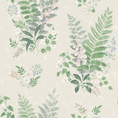 Foxglove Multicolor Botanical Wallpaper Sample