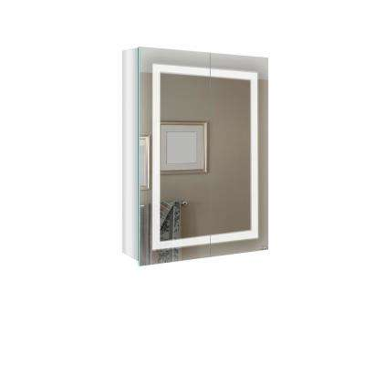 27.5 in W x 24 in Cassini Surface Mount Medicine Cabinet with LED Lighting and Mirror