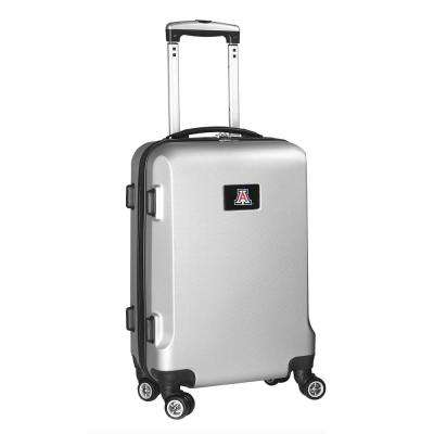 NCAA Arizona 21 in. Silver Carry-On Hardcase Spinner Suitcase