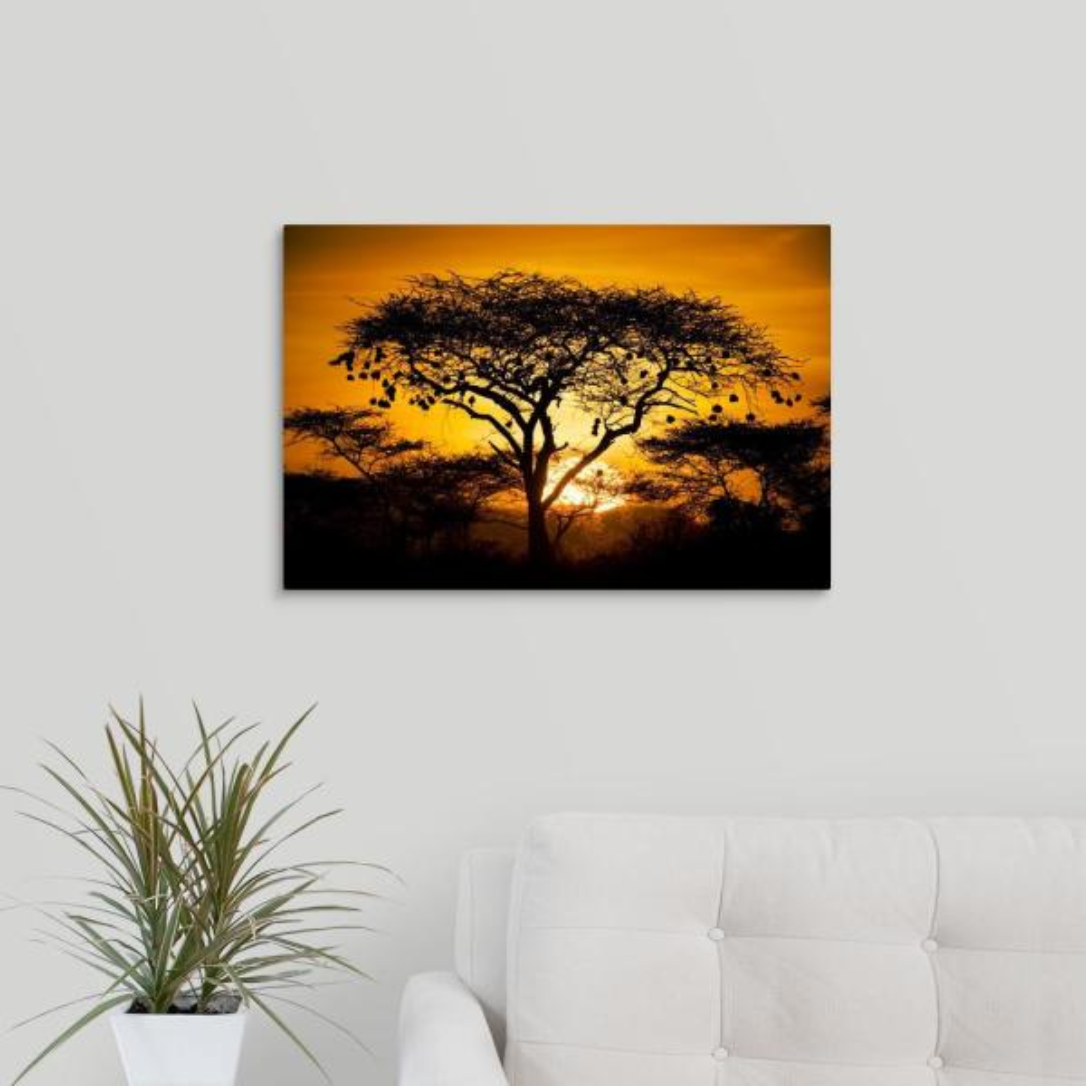 GreatBigCanvas 24 in. x 16 in. ''African Sunset'' by Scott Stulberg