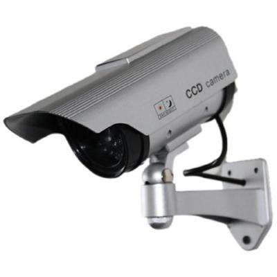 Solar Powered Fake Dummy Security Camera - Silver