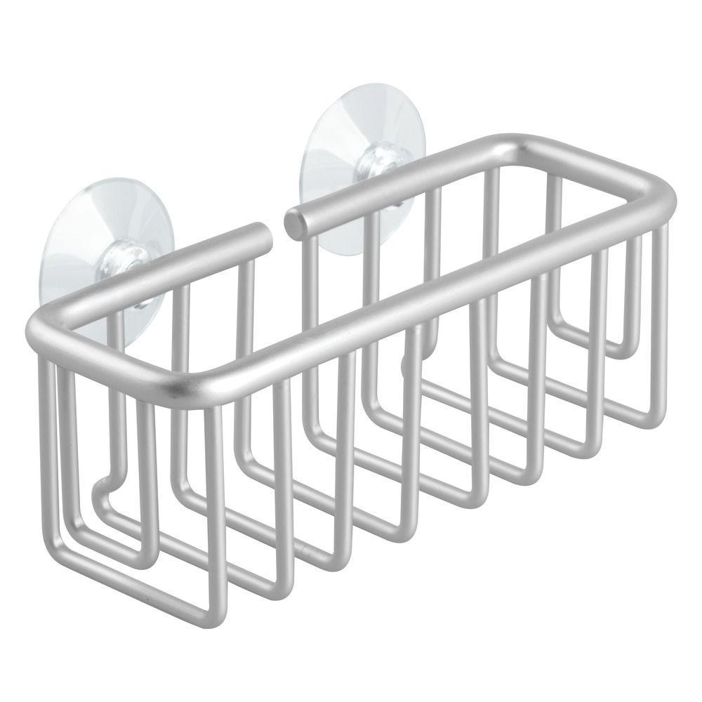 InterDesign Metro Aluminum Suction Sink Center In Silver