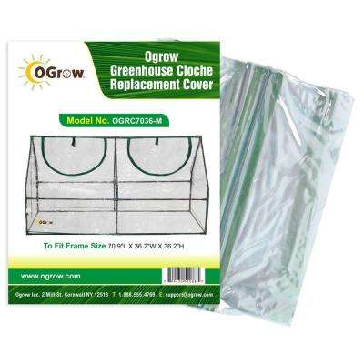 36.2 in. W x 70.9 in. L x 36.2 in. H Greenhouse Cloche Replacement Cover