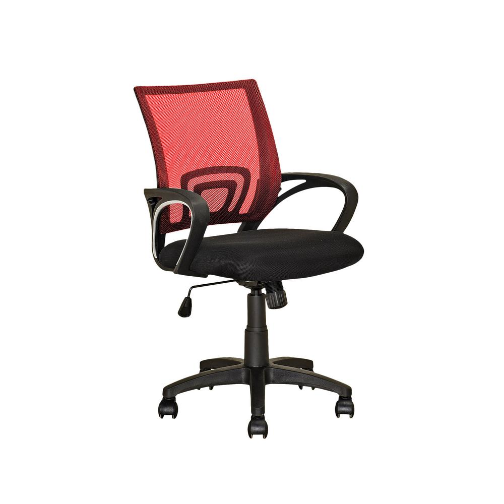 Workspace Black and Red Mesh Back Office Chair