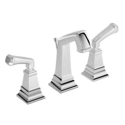 Oxford 8 in. Widespread 2-Handle Bathroom Faucet with Pop-Up Drain Assembly in Chrome