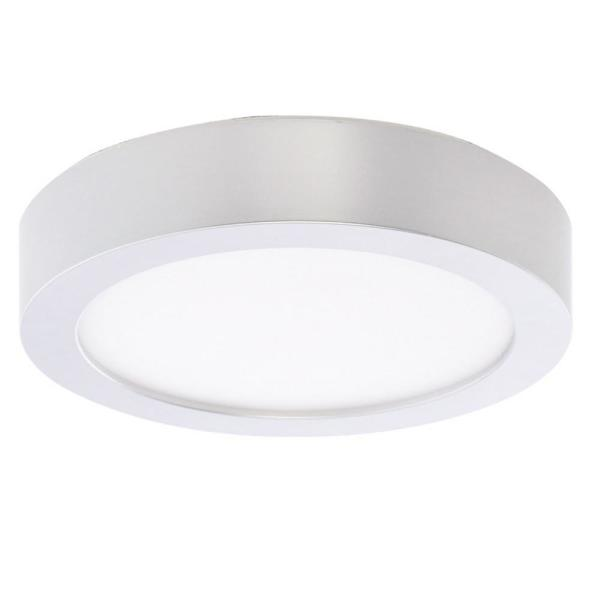 10-Watt Silver Integrated LED 5.5 in. Ceiling Flush Mount