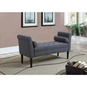 AC Pacific Modern Slate Blue Upholstered Button Tufted ...