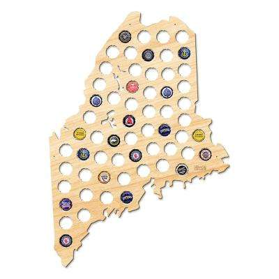 22 in. x 16 in. Large Maine Beer Cap Map