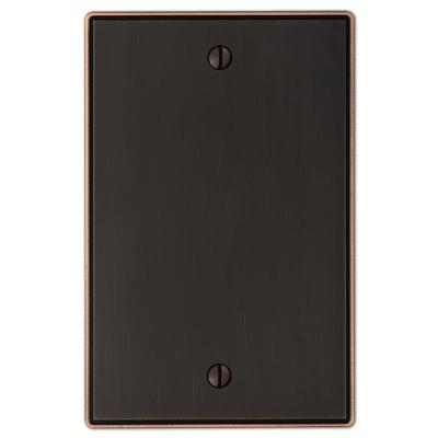 Ansley 1 Gang Blank Metal Wall Plate - Aged Bronze