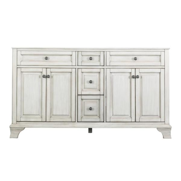 Corsicana 60 in. W x 21.5 in. D Vanity Cabinet Only in Antique White