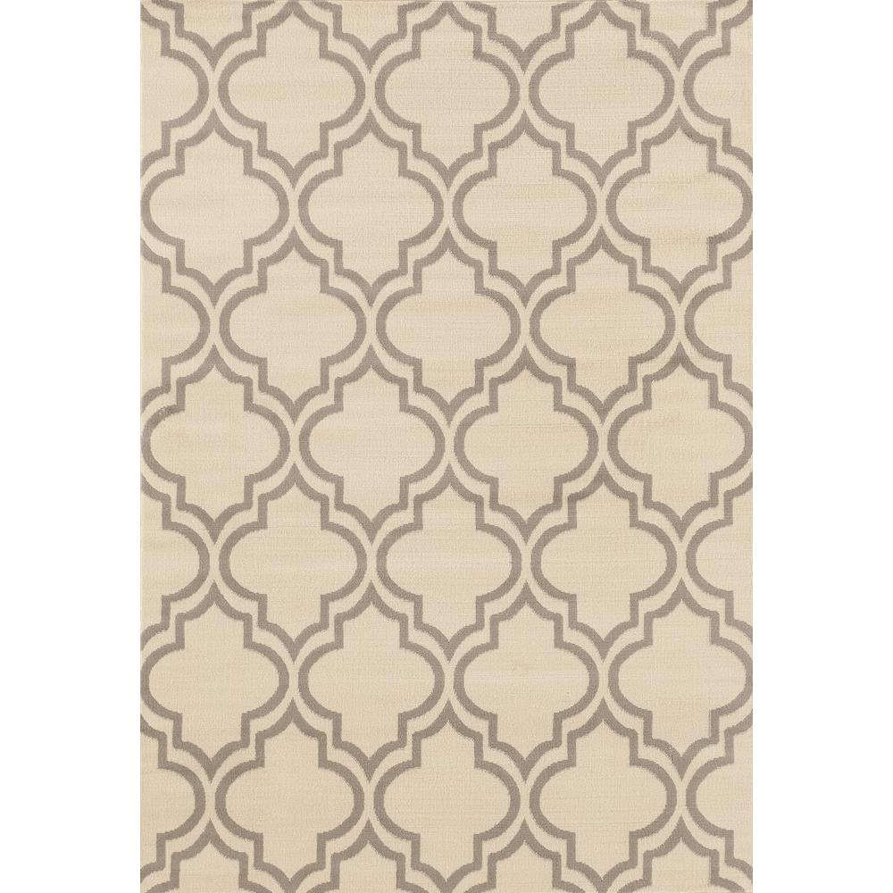 World Rug Gallery Modern Moroccan Trellis Cream 7 Ft. 6 In