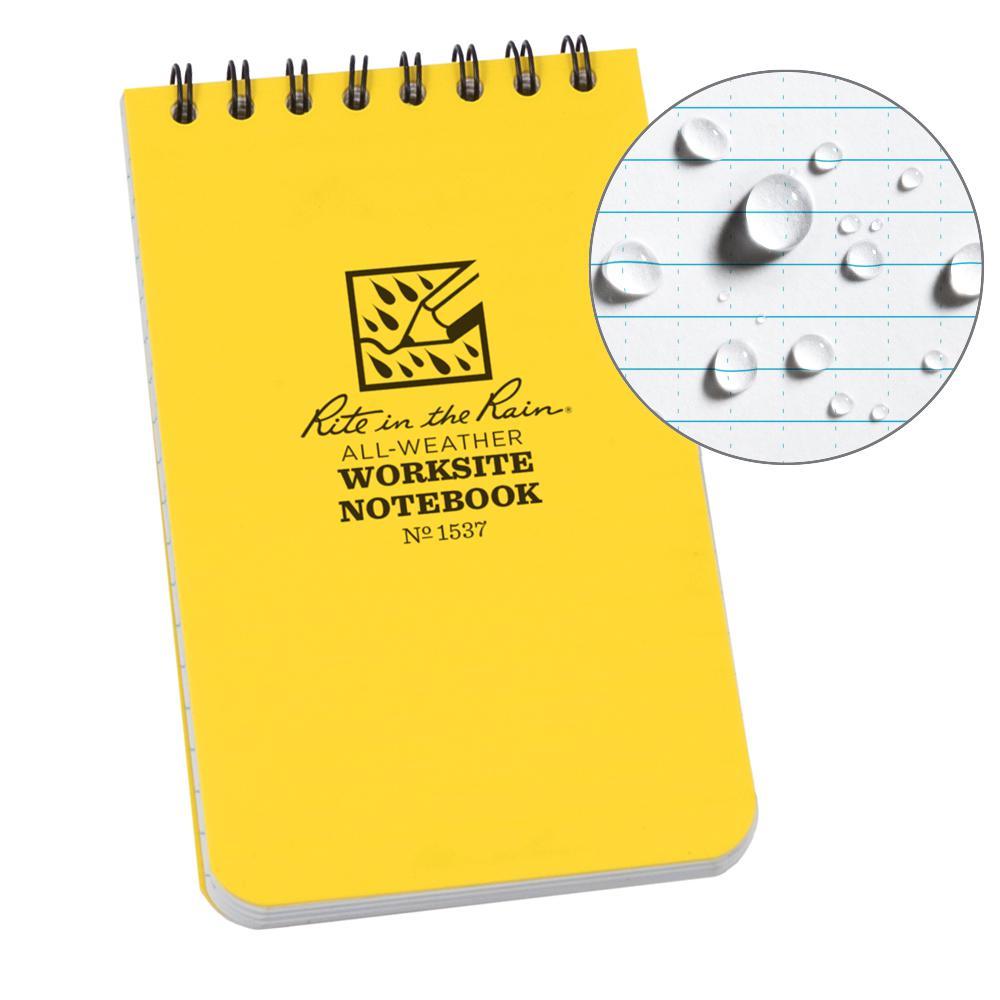 3 in. x 5 in. Top Spiral Yellow Contractors Notebook