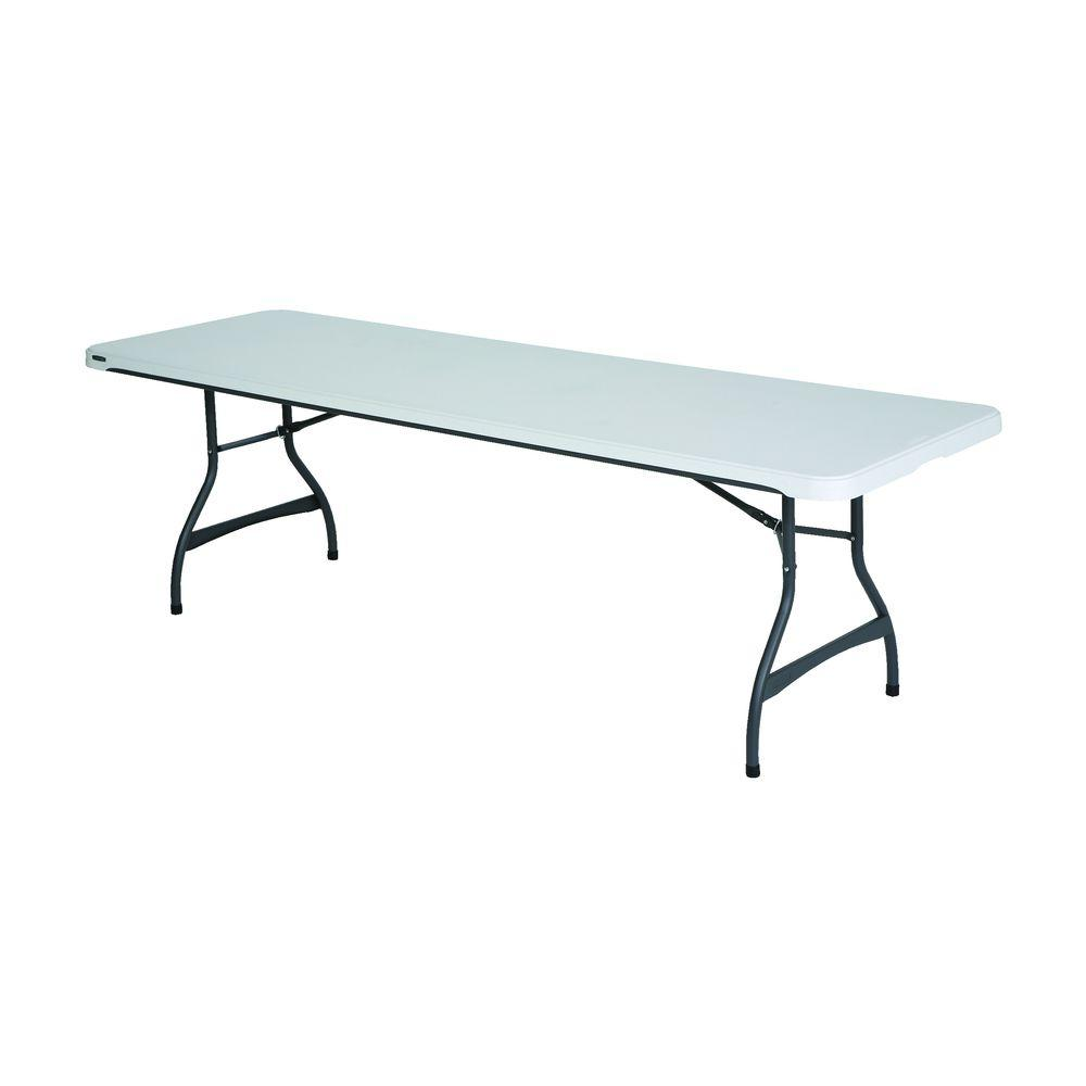 White 27-Pack Stacking Folding Table