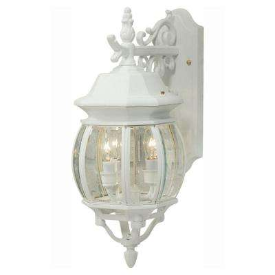 Sergej 3-Light White Outdoor Wall Lantern