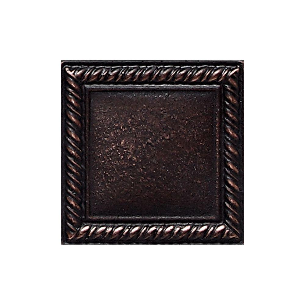 Daltile ion metals oil rubbed bronze 2 in x 2 in composite of daltile ion metals oil rubbed bronze 2 in x 2 in composite of metal ceramic and polymer rope accent tile im03221p the home depot dailygadgetfo Choice Image