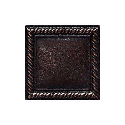 Ion Metals Oil Rubbed Bronze 2 in. x 2 in. Composite of Metal Ceramic and Polymer Rope Accent Tile