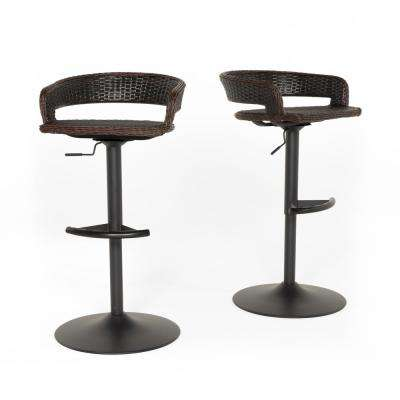 Comfort Swivel Wicker Outdoor Bar Stool (2-Pack)