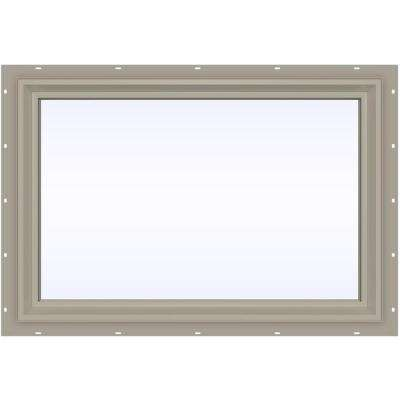 35.5 in. x 23.5 in. V-2500 Series Fixed Picture Vinyl Window - Tan