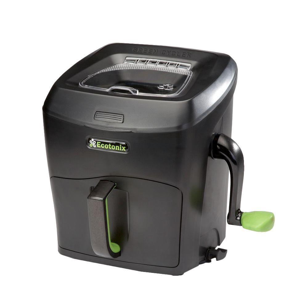 Green Cycler Gcgg02 Kitchen Scrap Pre Composter Garden: Ecotonix 1.29 Cu. Ft. Cycler Garden In Green-GCGG02