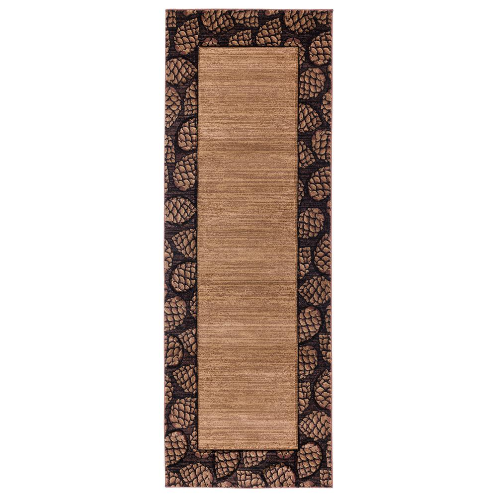 United Weavers United Weavers Cottage Pine Border Beige 2 Ft 7 In X 7 Ft 4 In Runner Rug 2055 41026 28c The Home Depot