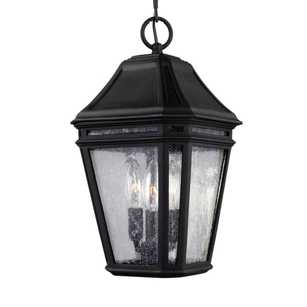 Londontowne 3-Light Black Outdoor 13.75 in. Pendant