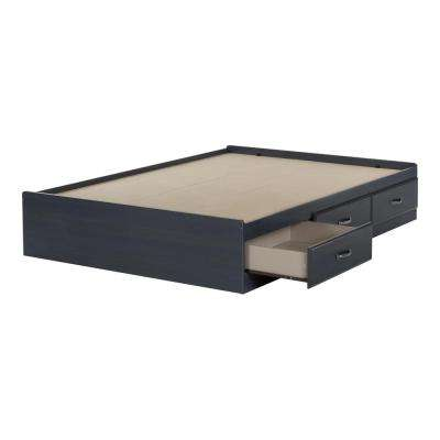 Ulysses 3-Drawer Blueberry Full-Size Storage Bed