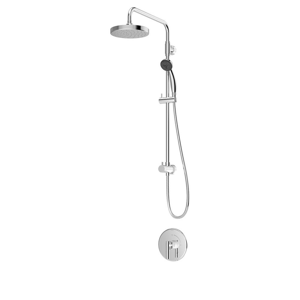 Symmons Dia 1-Spray Dual Showerhead and Handheld Showerhead in Polished Chrome